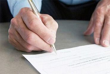 Firma de los contratos