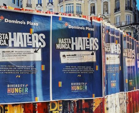 Domino's Pizza convierte los mensajes de odio en redes hacia el colectivo LGTBI, en donaciones para apoyar la educación en la diversidad