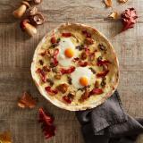 Pizza trufo y huevo
